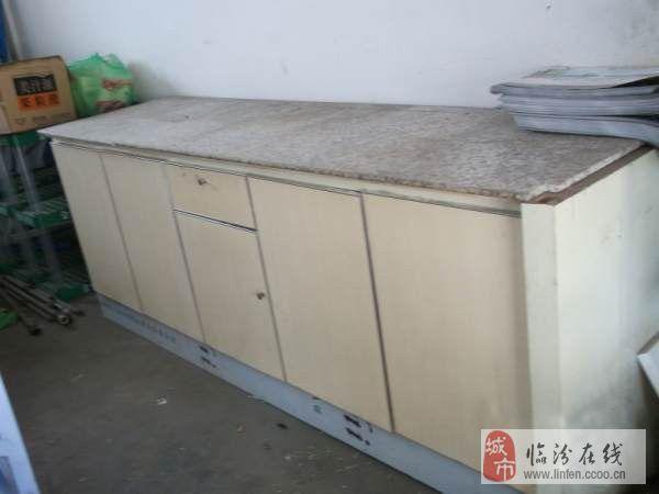 大理石面柜子,可当橱柜或前台放货储藏柜 新旧程度: 非全新,不包送货