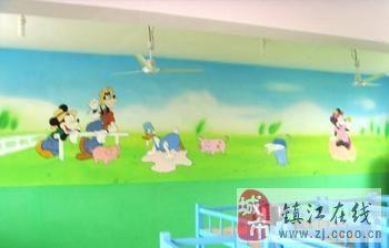 鎮江幼兒園噴繪,鎮江手繪墻,常州幼兒園噴繪,泰州幼