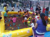 广场经营用沙子、沙池、玩具、充气泵一整套
