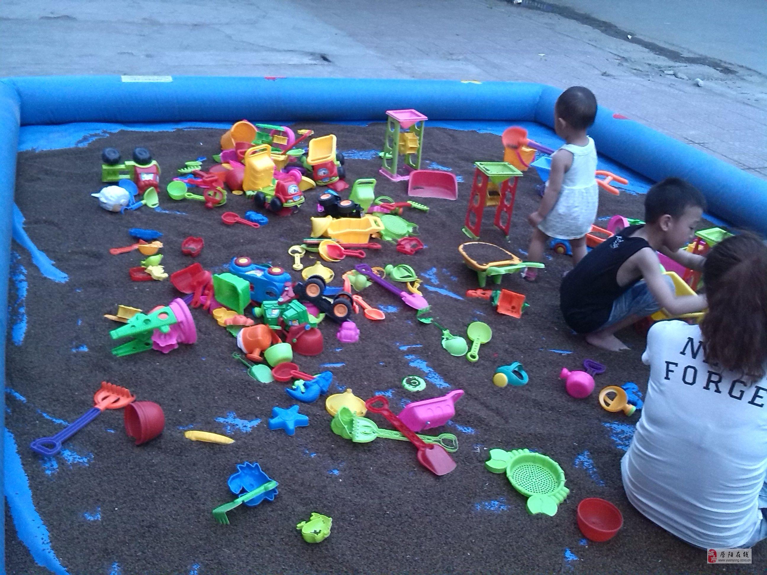 转让20平米决明子沙池沙滩玩具套装