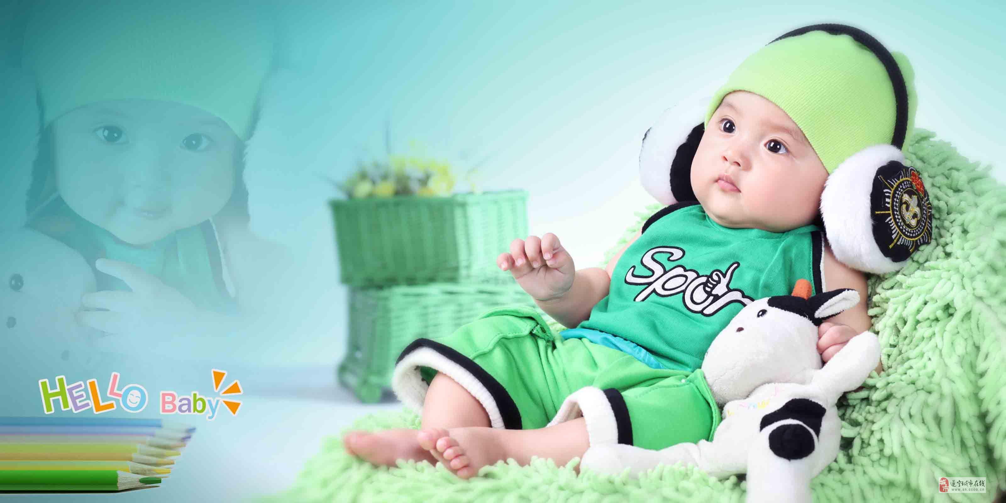 宝宝满月照、百天照、周岁照—米奇宝贝专业儿童摄影