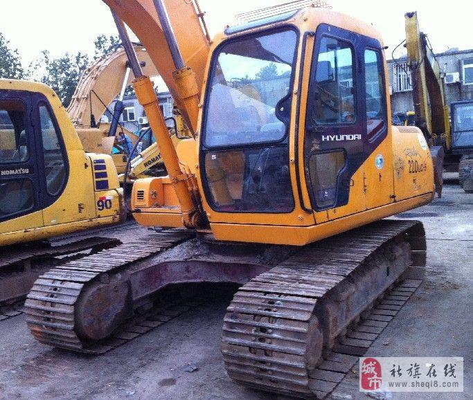 社旗县转让现代130-5挖掘机 二手现代挖机