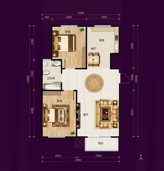 宏屹中央广场楼盘规划图|户型图|实景图|样板间