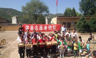 志愿者赴肖家沟小学爱心捐赠