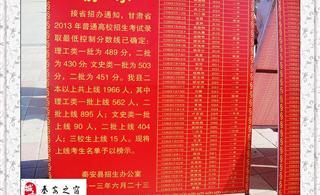 [原创]秦安:2013年高考上二本线【1966人】