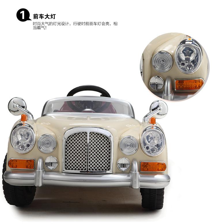 贝瑞佳je128儿童电动车遥控双驱可坐汽车老爷车 限售20辆