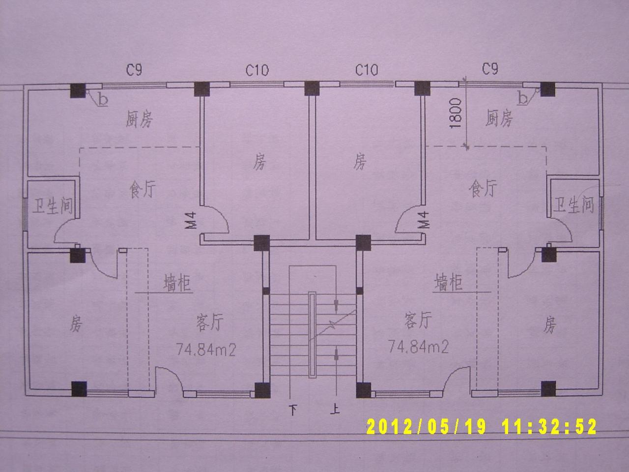三间房子设计图二层半