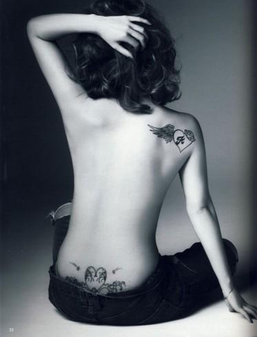 女后背纹身【真实案例】