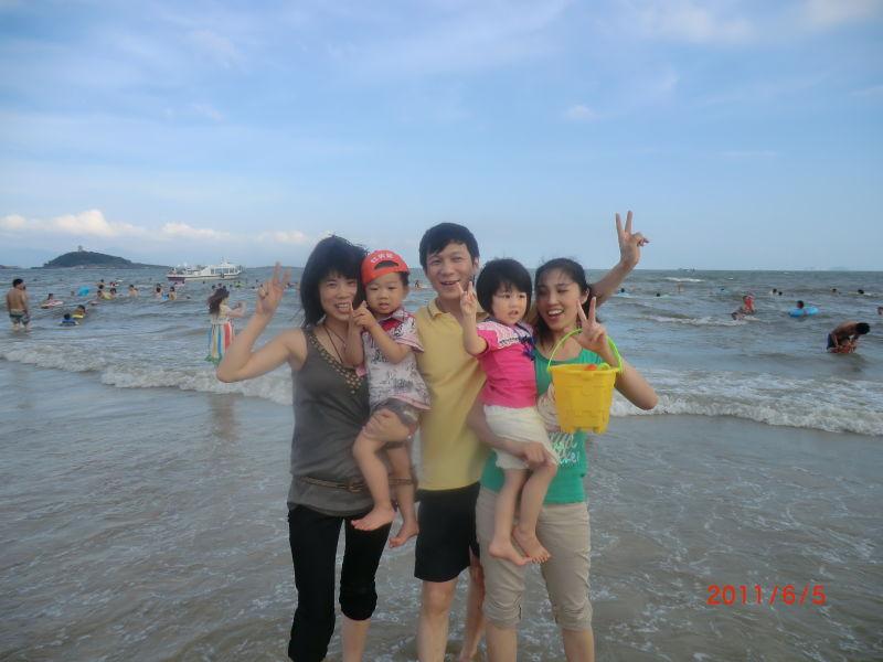 惠阳大亚湾海边夜景