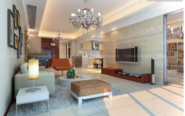 中式现代简约客厅