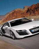 白色奥迪R8 驰骋赛道