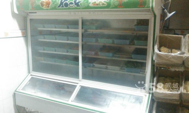 阜寧地區轉讓1.8米點菜柜不銹鋼隔層