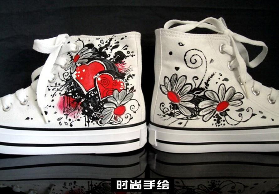 手绘鞋、彩绘鞋、涂鸦鞋走进庆阳(华池)