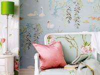清浅的花草图案打造一个舒适的甜睡空间