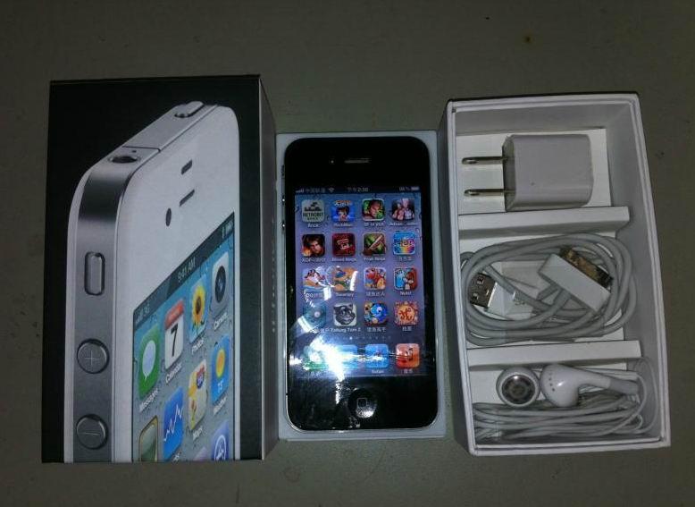 苹果iPhone4 16G黑色!手头没生活费了换钱