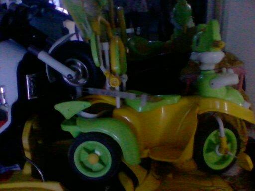 儿童卡通三轮自行(手推)车