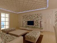 现代花园-二居室-92.07�O-普通住宅装修案例