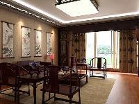 中式古典-三居室-135�O-普通住宅装修案例