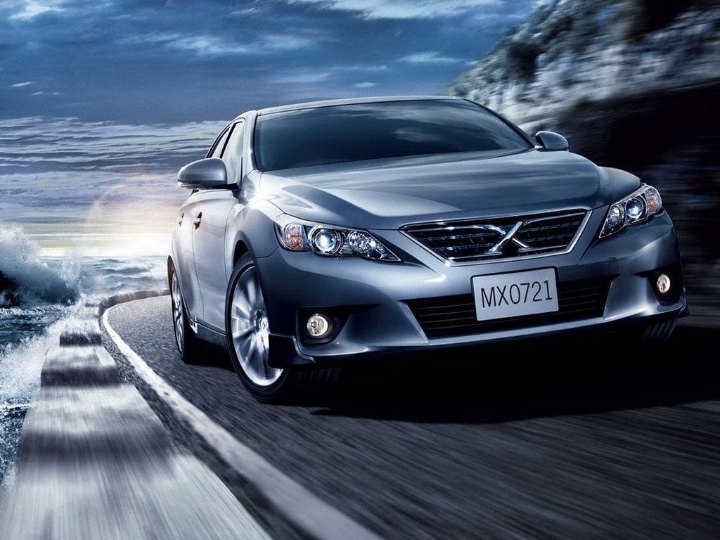 锐志在日本叫做markx ,日本原型车的标志就是x 高清图片
