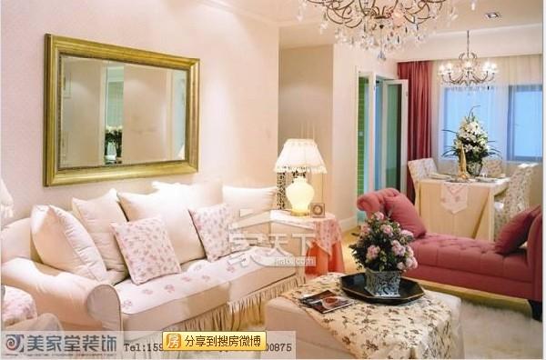 晶蓝半岛-田园风格-二居室-装修案例