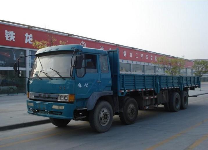 淮北二手货车9.6米前四后八平板车出售