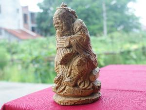 竹根雕-佛像