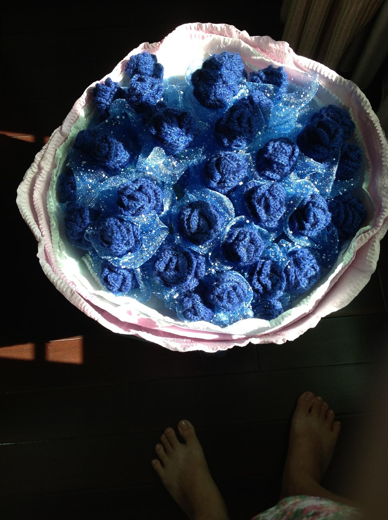 用不凋零的蓝色妖姬
