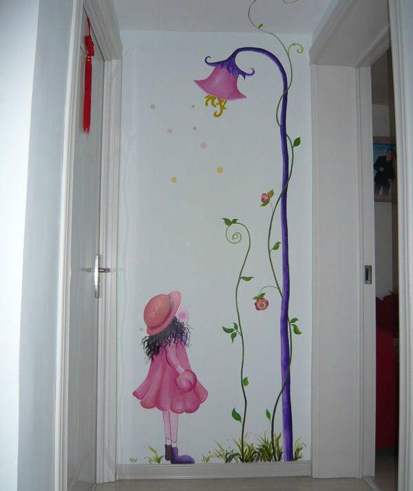 玄关墙手绘墙