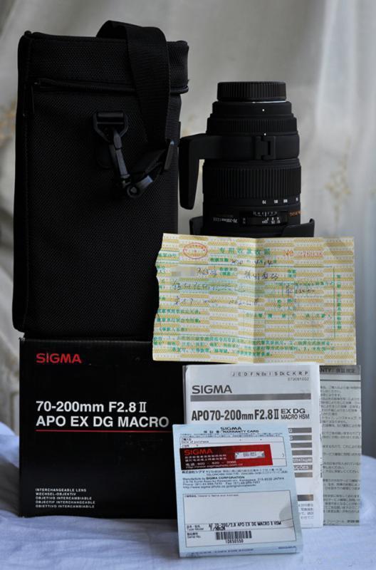 两支镜头适马2.8 70-200和尼康50