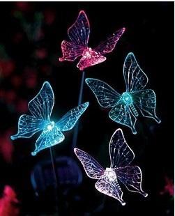 太陽能LED燈/三叉蝴蝶燈