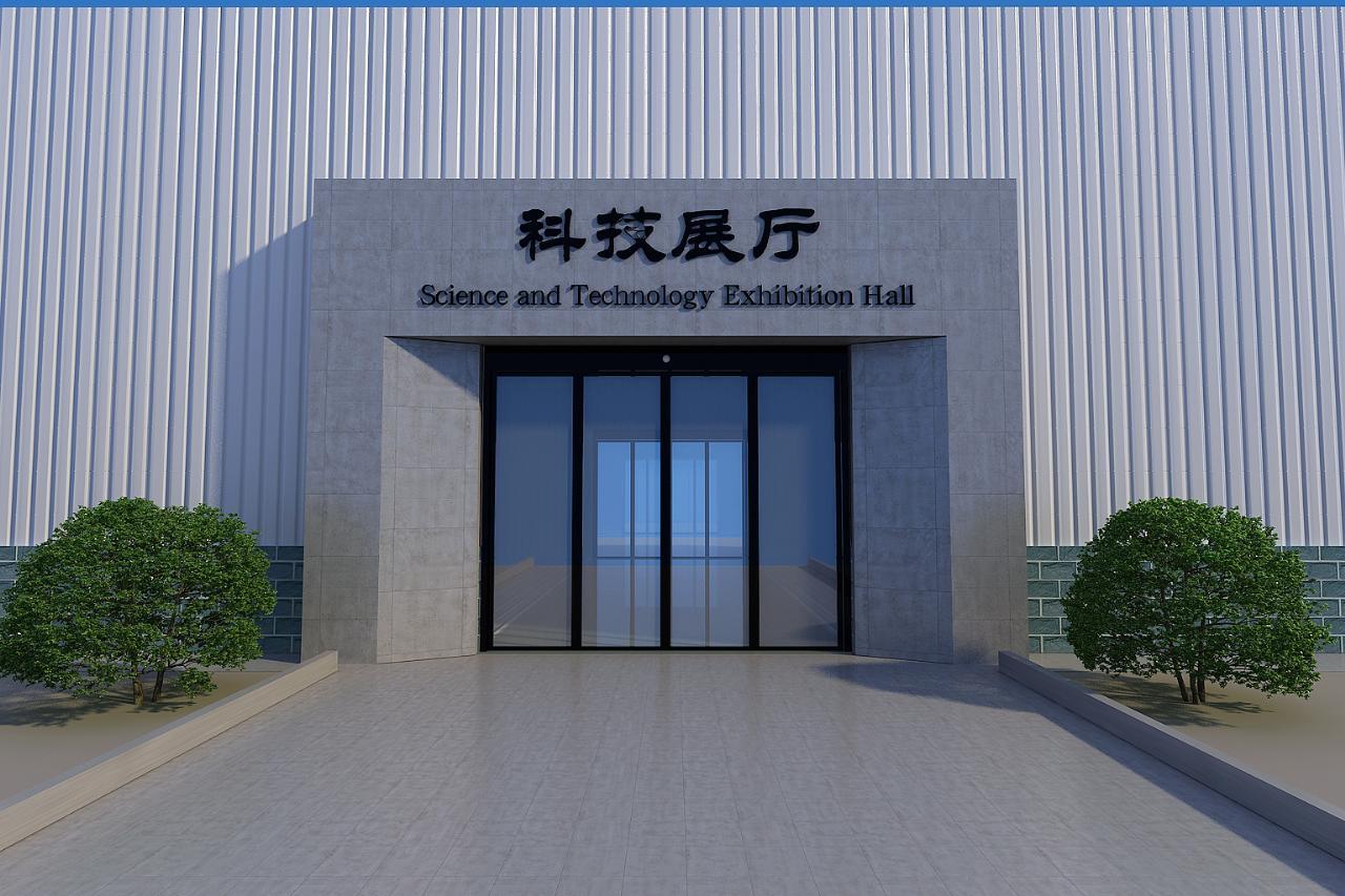轩宇装饰作品某企业科技展厅大门