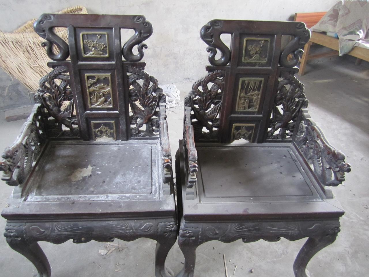 出售老式太师椅一对