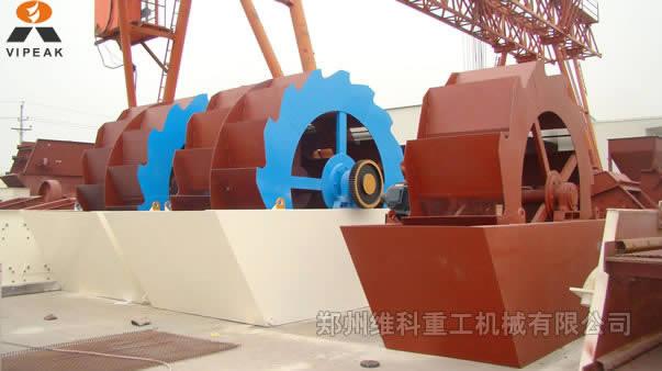 江蘇揚州市城市建筑專用高效輪斗洗砂機、河卵石洗砂機