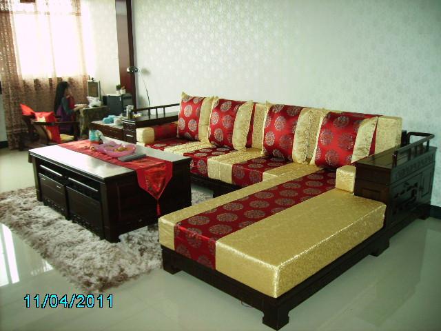 专业定做精品红木沙发坐垫