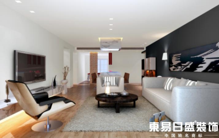 实木质感极强的木地板,简洁大方、线条清晰的家具,温馨的布艺沙发,以及运用的恰到好处的彩色马赛克这一切构成了这套温馨,典雅的现代风格作品。并且设计师在这套作品中运用了很多超前的理念和手法:西厨中隔而不断的马赛克隔墙,客厅中顶、地呼应的石材装饰,以及主卫玻璃隔墙的处理手法,都表达了对空间的另一种解读,反对室内的简单化,模式化,提倡空间时间的新概念,多层空间,拓展视野的空间,这一切与各空间的功能不但不冲突,反而相辅相成,浑然天成。处处体现了设计师前卫的设计理念。