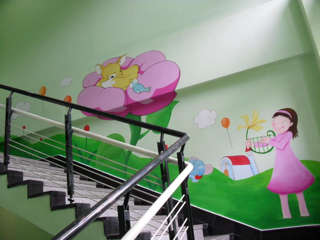 昆山彩绘 昆山幼儿园彩绘墙 昆山围墙彩绘 昆山壁画