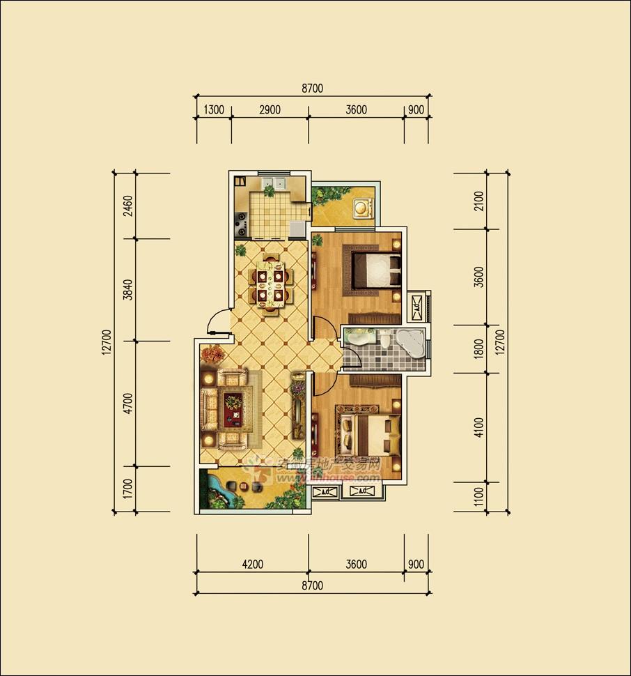 95平方米房屋设计图