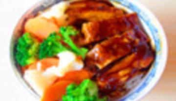 鲜蔬煎鸡饭