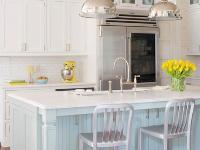 唤醒一天的清新 白色海滨风情厨房设计