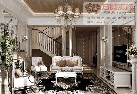 欧式风格客厅装修_家居街