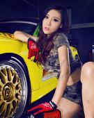 996GT3赛车女郎性感工装