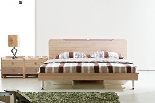 09A111床(不含床垫)+床头柜+四门衣柜