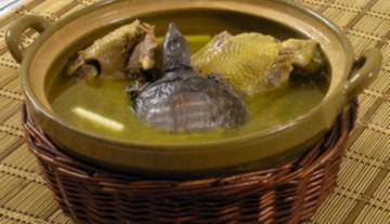 甲鱼炖土鸡