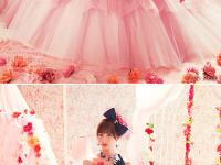 四款可爱的彩色婚纱