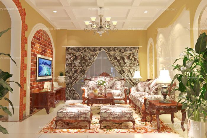 131平米大户型家装相约美式风格