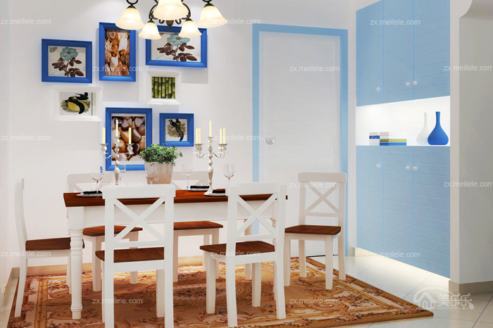 75平米家装世界中的蓝白地中海风