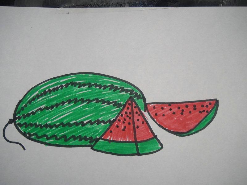 儿童画——西瓜