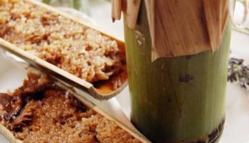 特色竹筒饭,粒粒留香