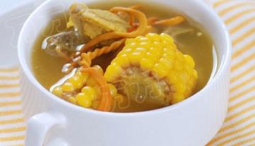 金色秋日养生汤-虫草花玉米排骨汤