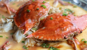 又到秋蟹正肥时:香蒸豆腐蟹